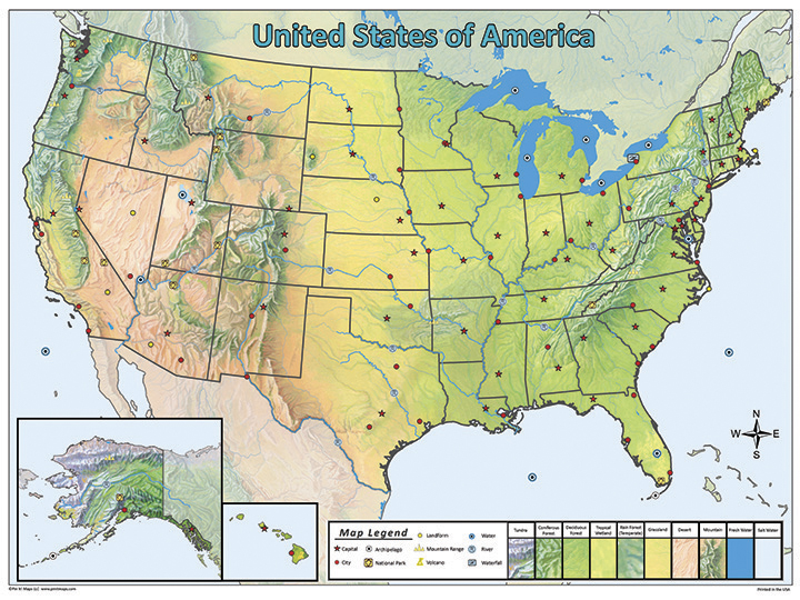 Map Of The United States Picture.United States Pin Map