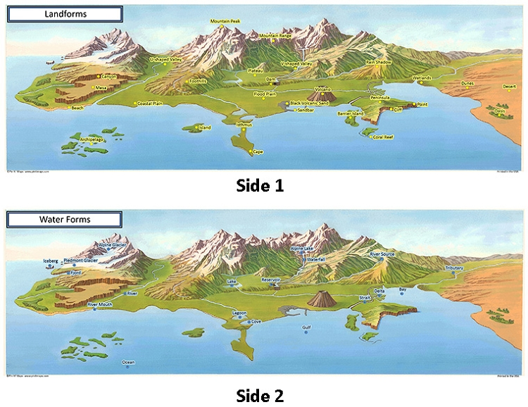 Land and Water Map Set